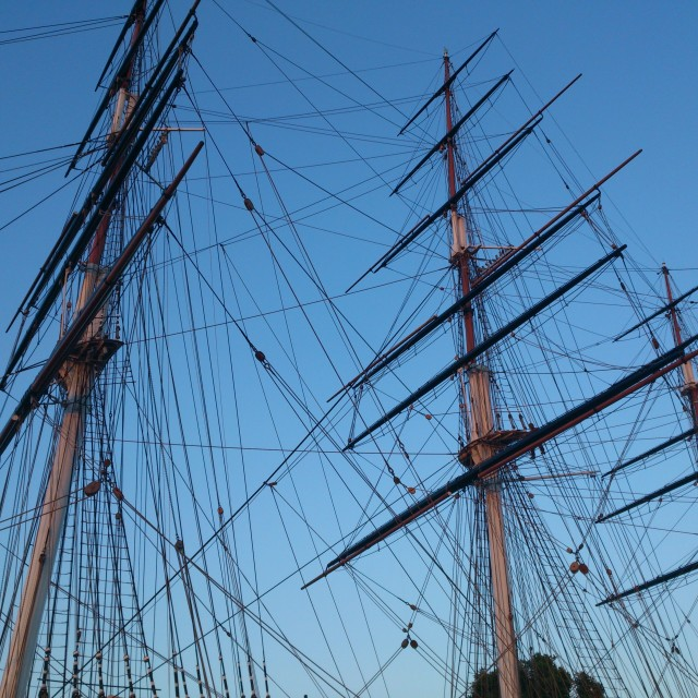 """Greenwich, Cutty Sark"" stock image"