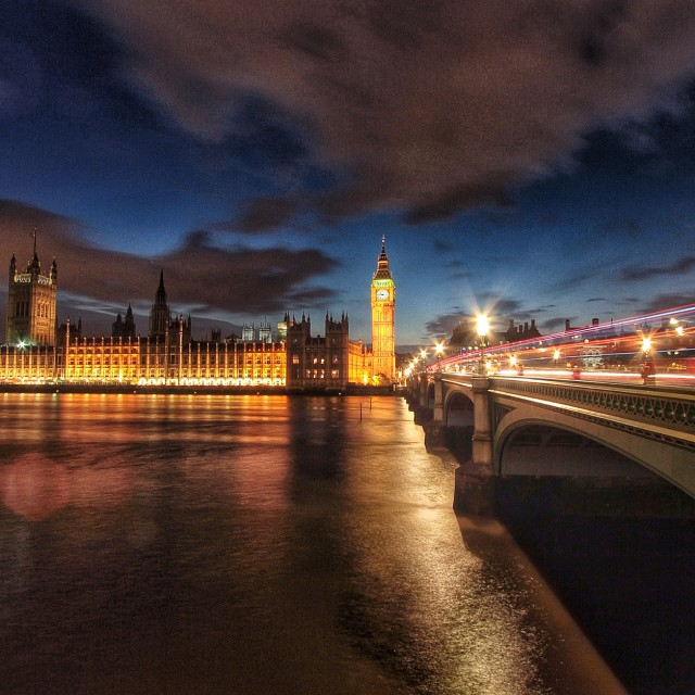 """Parliament after a storm"" stock image"