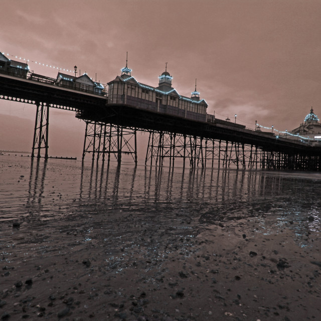 """""""Stormy Eastbourne Pier"""" stock image"""