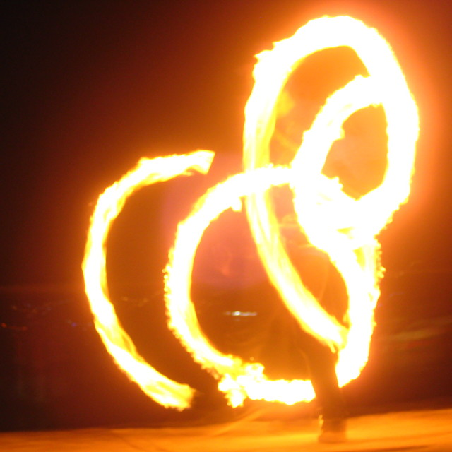 """Fire Show in Koh Phi Phi"" stock image"