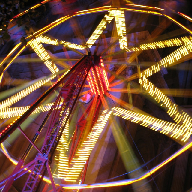 """Colorful ferris wheel"" stock image"