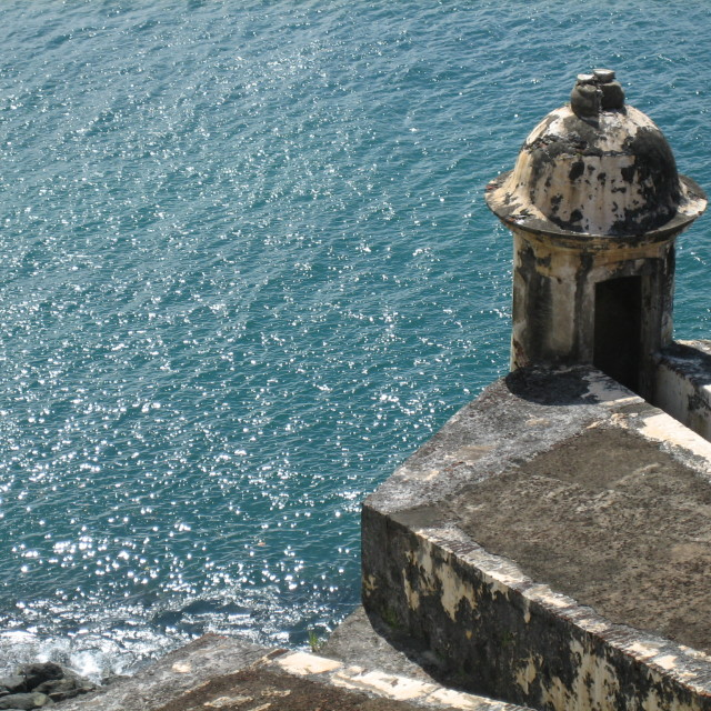 """A Sentry Box at Castillo San Felipe del Morro"" stock image"