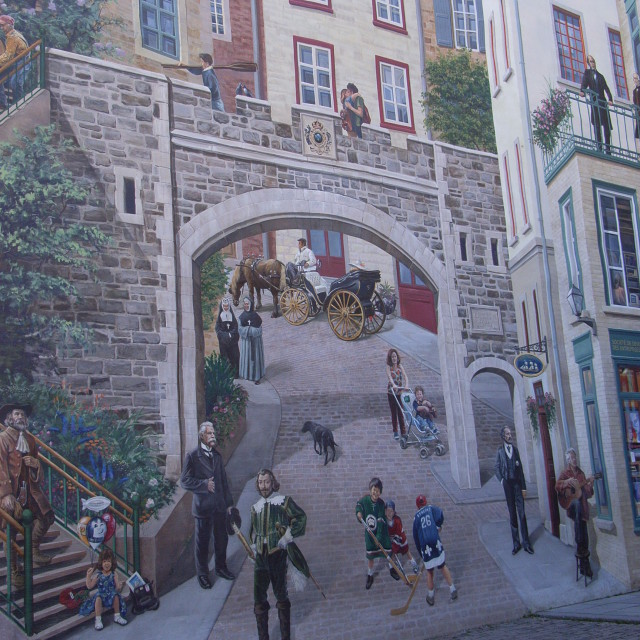"""Quebec Wall Painting"" stock image"