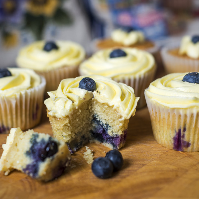 """Homemade Blueberry Muffins"" stock image"