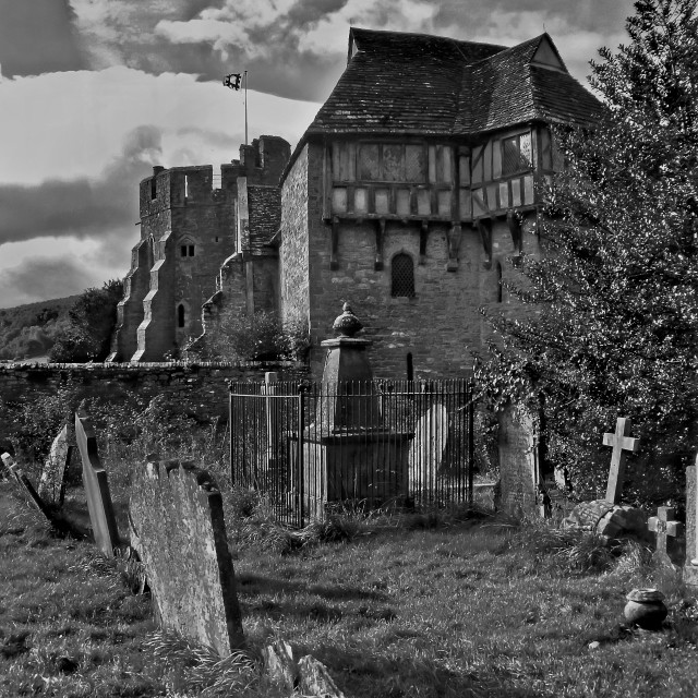 """Stokesay Castle,Shropshire"" stock image"