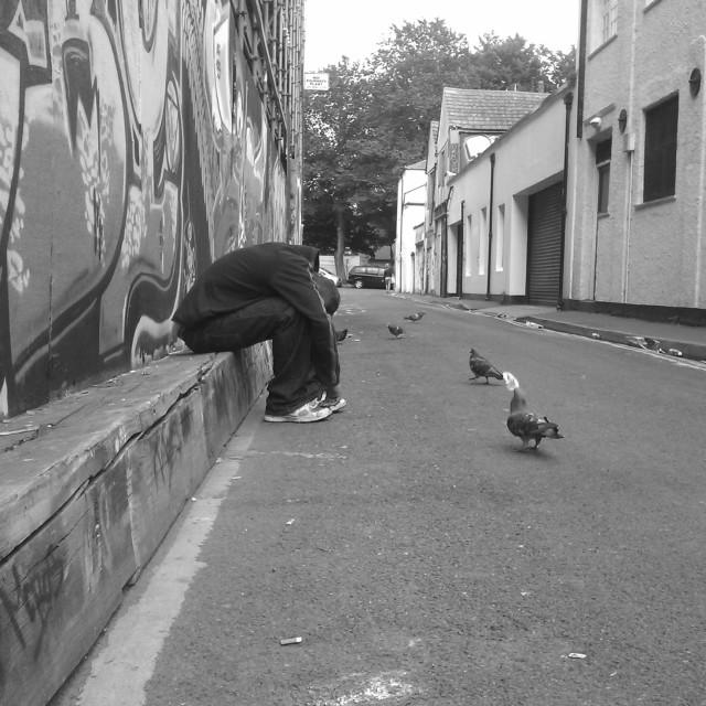 """Me and my bird"" stock image"