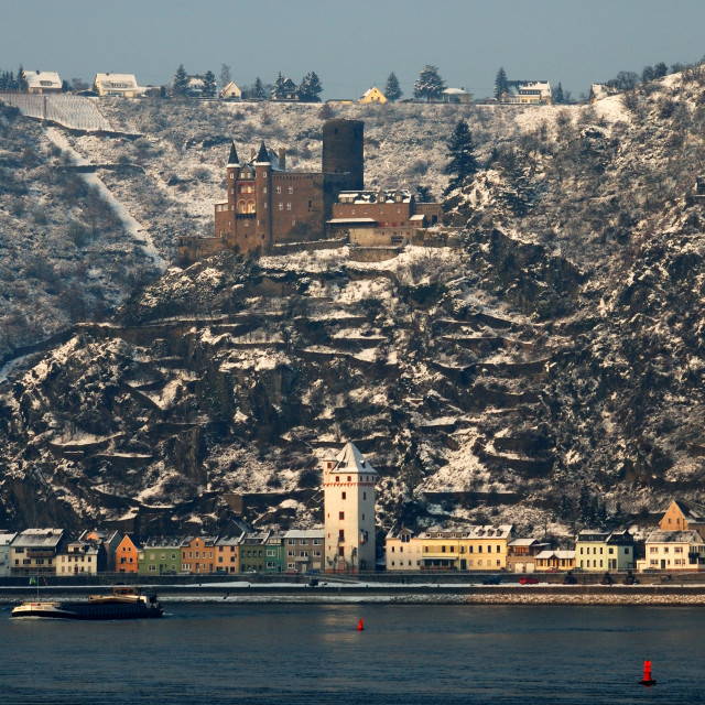 """Rhine valley in winter"" stock image"