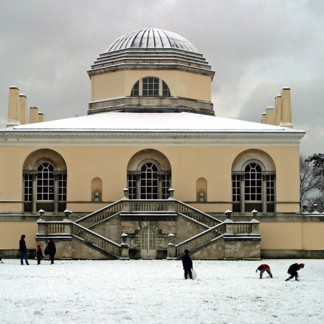 """""""Snow at Chiswick House"""" stock image"""