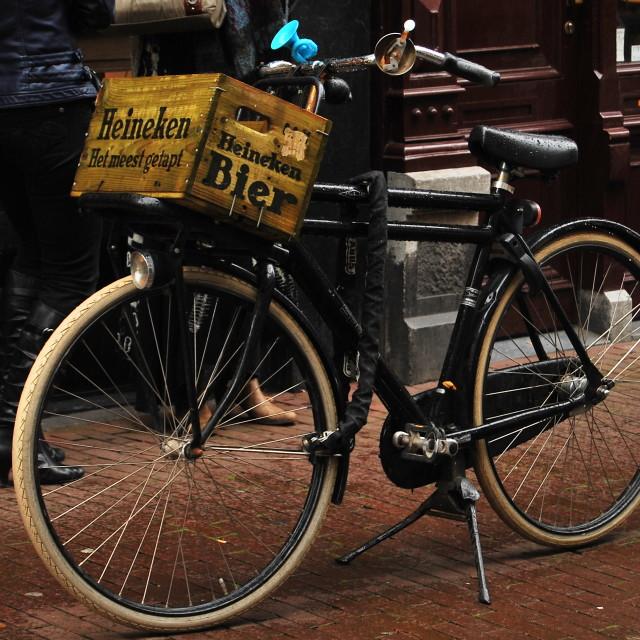 """Biking in Amsterdam"" stock image"