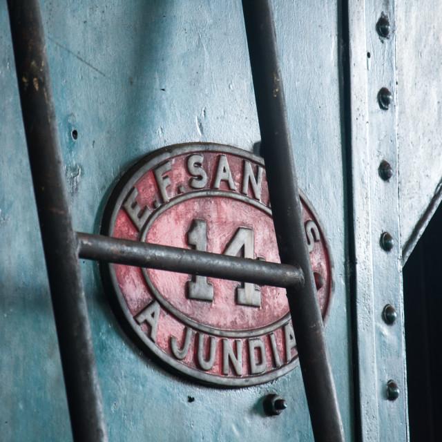 """Old train logo"" stock image"