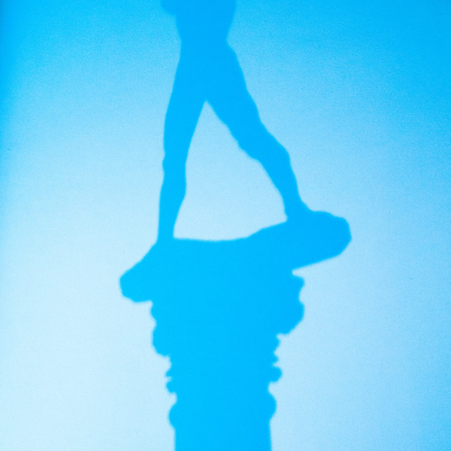 """""""Shadow of the Statue"""" stock image"""