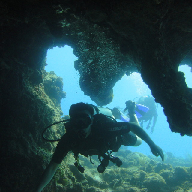 """Cave diving"" stock image"