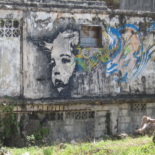 """Stinkfish mural"" stock image"
