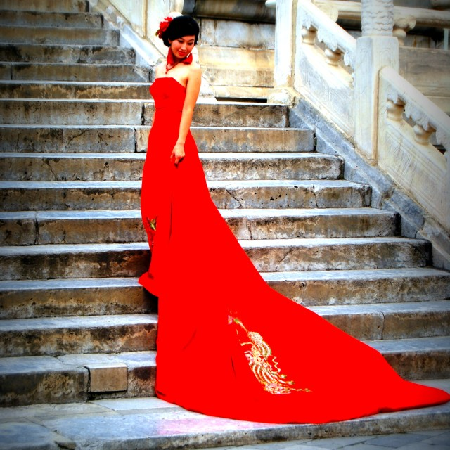 """Chinese bride, Beijing"" stock image"