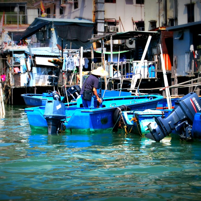 """Aberdeen Fishing Village Hong Kong"" stock image"