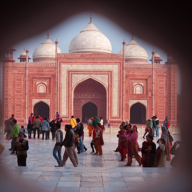 """Alternative view of the Taj Mahal"" stock image"