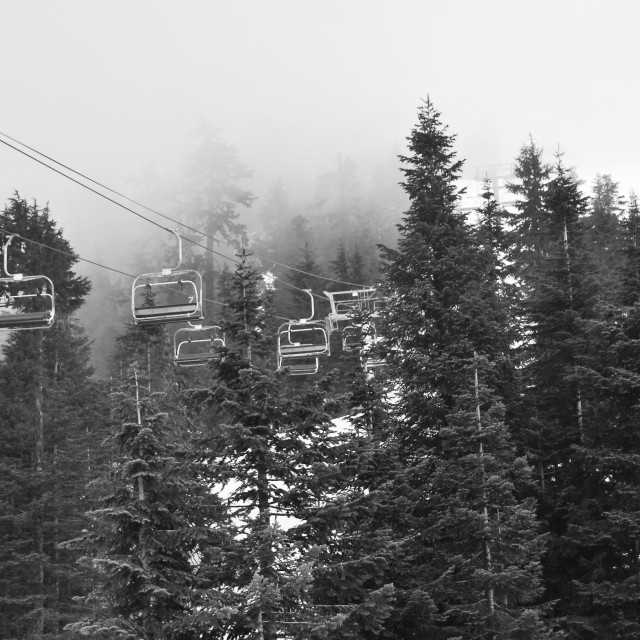 """Cable cars Grouse Mountain Vancouver"" stock image"