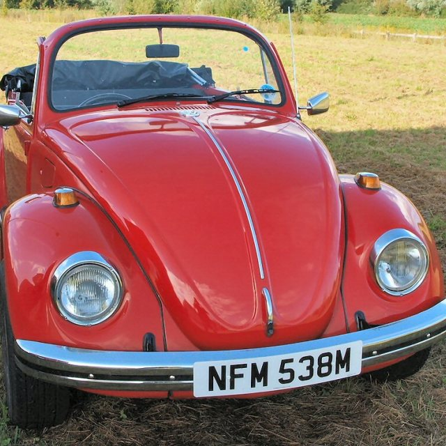 """Red VW Beetle Convertible"" stock image"