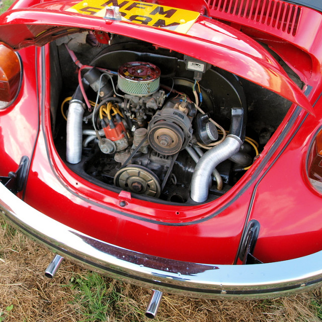 """""""VW Beetle engine bay"""" stock image"""