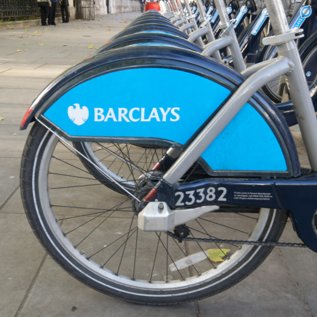 """Boris Bikes"" stock image"