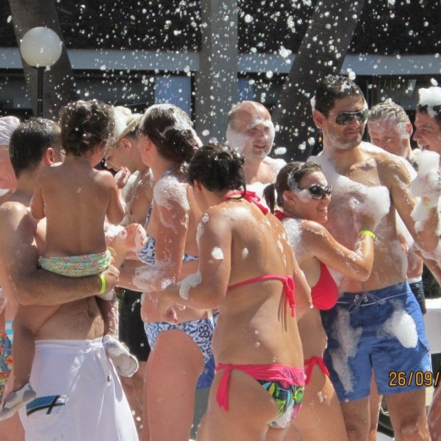 """Foam Party"" stock image"