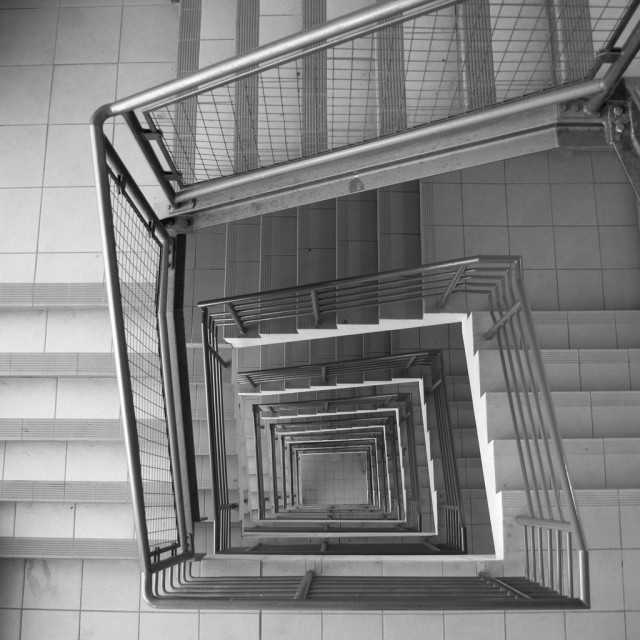 """Steel Staircase in Belfast"" stock image"