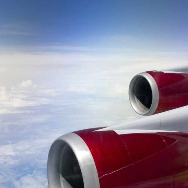 """""""Transatlantic Flight"""" stock image"""