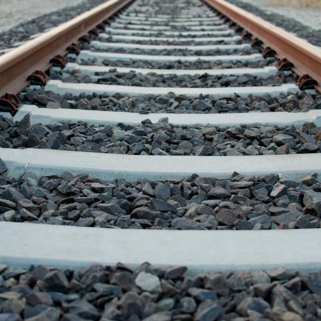 """Railway Tracks to the Infinity"" stock image"