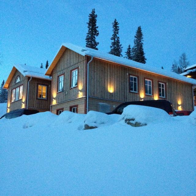 """Ski House"" stock image"