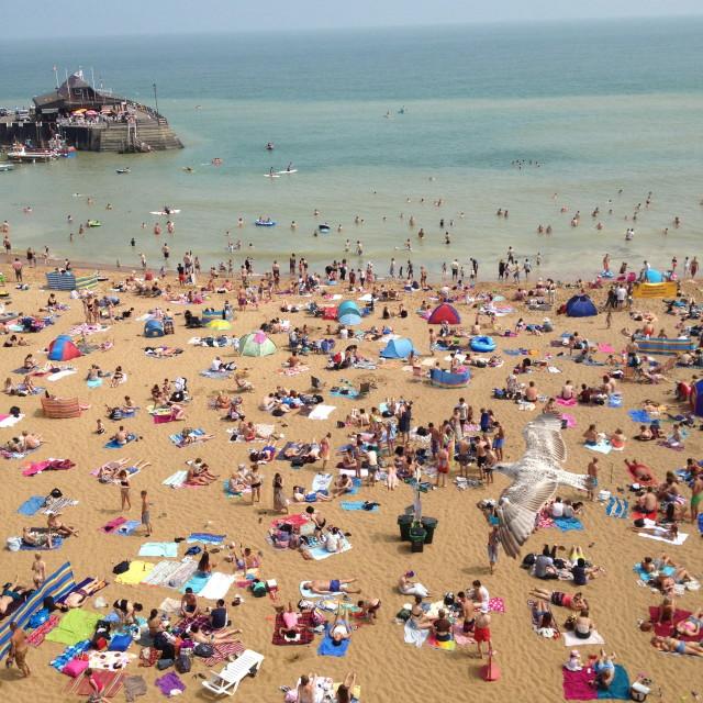 """Seaside beach scene"" stock image"