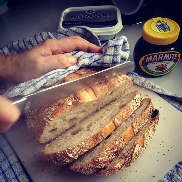 """""""Sourdough breakfast"""" stock image"""