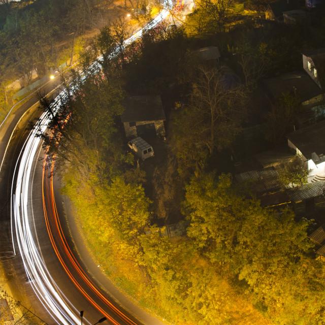 """Kyiv street at night"" stock image"