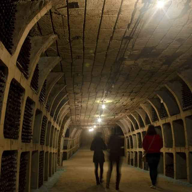 """""""Tunnels for storing wine"""" stock image"""