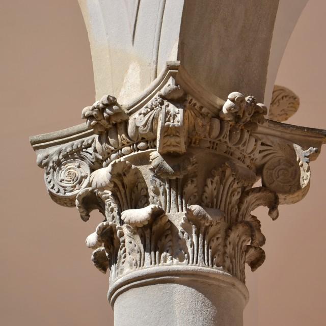 """Corinthian column"" stock image"