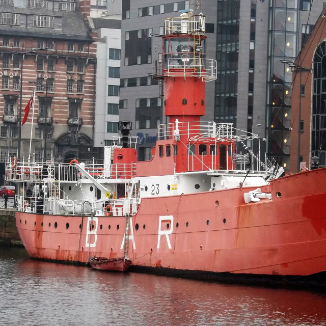 """Bar Lightship in Liverpool"" stock image"