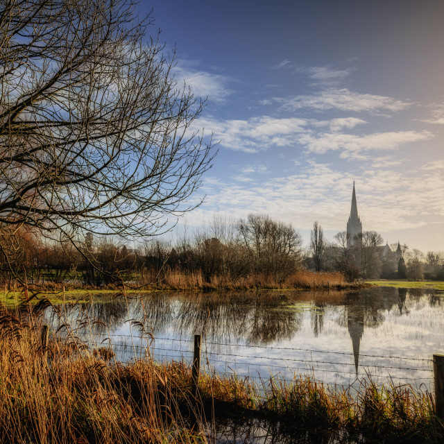 """""""Cathedral Reflection"""" stock image"""