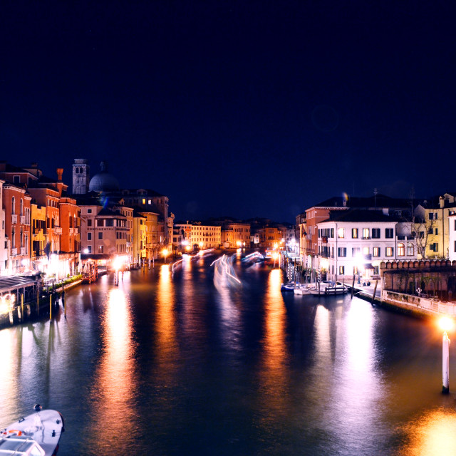 """Venice At Night"" stock image"