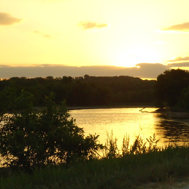 """Eagle Bluffs Sunset"" stock image"