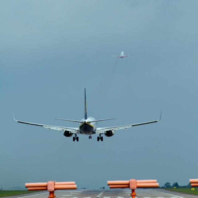 """""""Aeroplane Chase"""" stock image"""