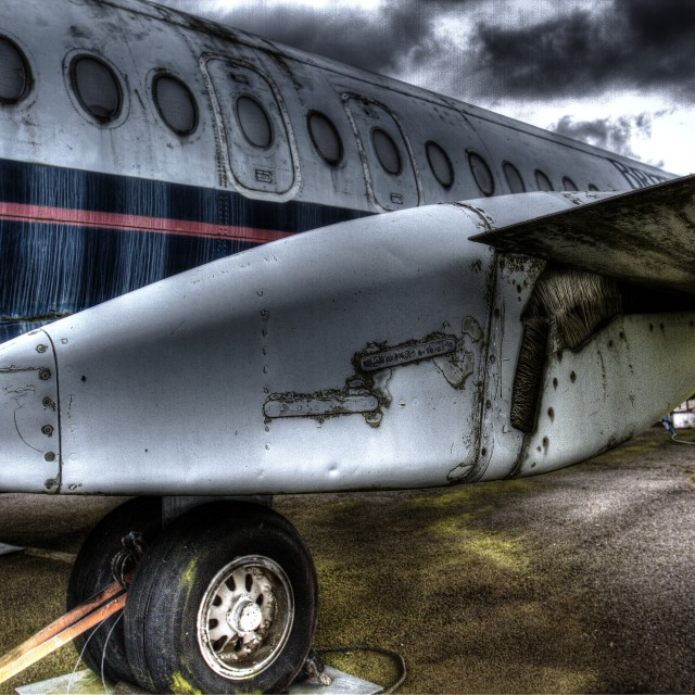 """Old Plane"" stock image"