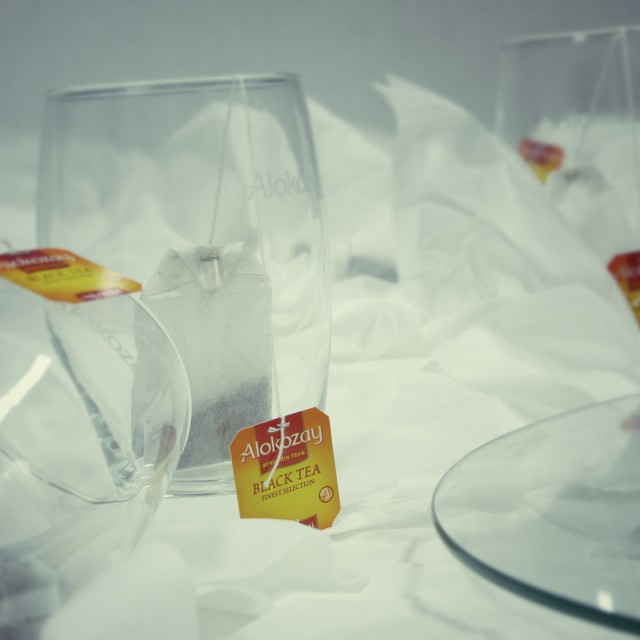 """Tea Bags and Glasses"" stock image"