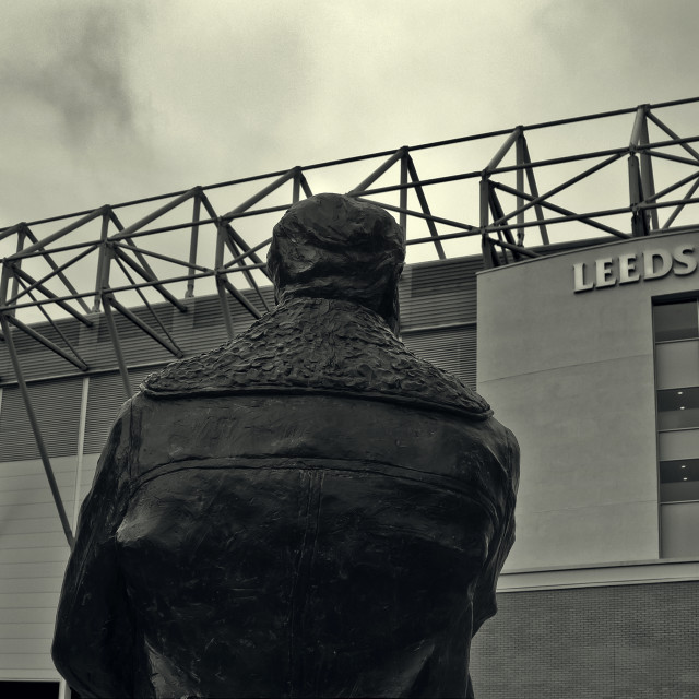 """The Don Revie Statue"" stock image"