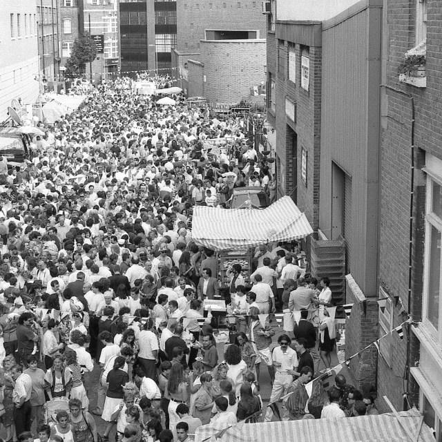 """Italian street party, London"" stock image"