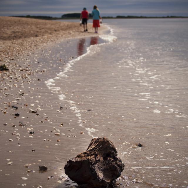 """Walk on the beach"" stock image"