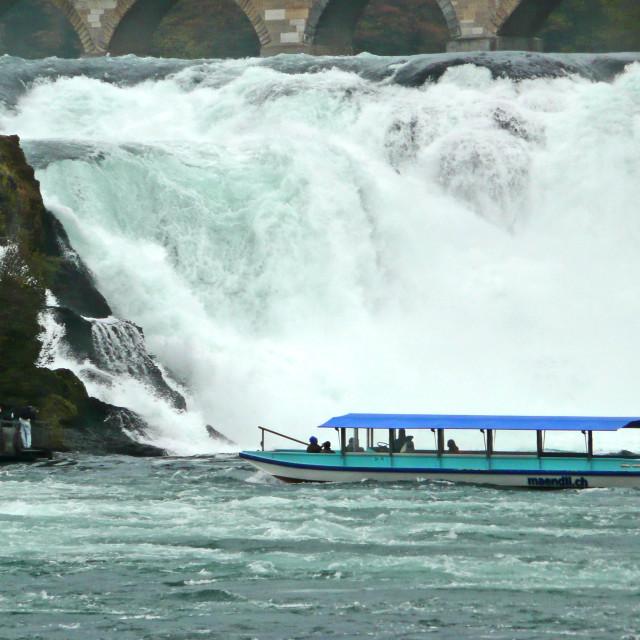 """""""Rhine Falls, Schaffhausen, Switzerland"""" stock image"""