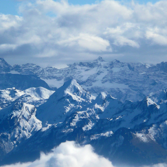 """Mountain view from Rigi, Switzerland"" stock image"