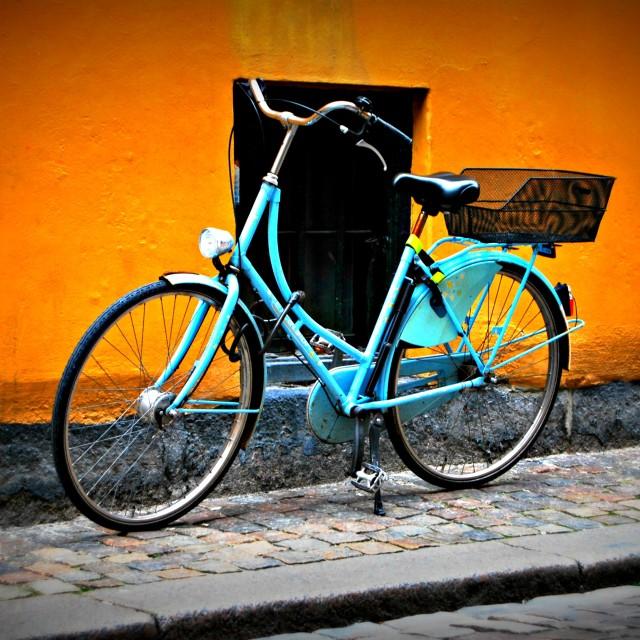 """Biking in Copehagen"" stock image"