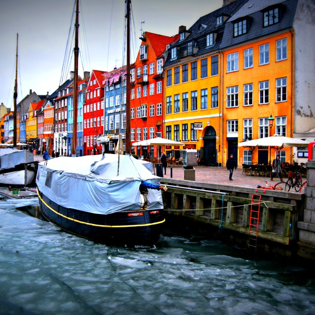 """""""The colourful houses of Scandinavia"""" stock image"""