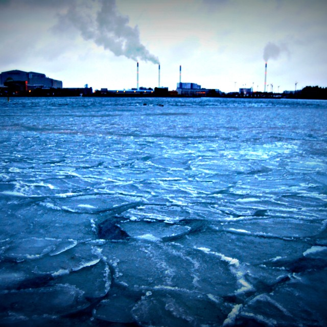 """Copenhagen frozen sea"" stock image"
