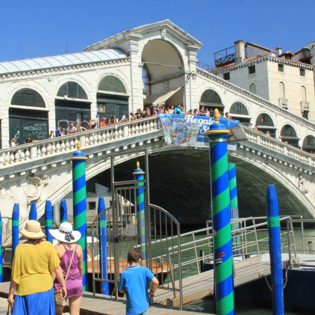 """Rialto Bridge, Venice"" stock image"